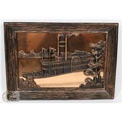 """""""PRINCES"""" STEAMBOAT COPPERCRAFT WALL ART"""