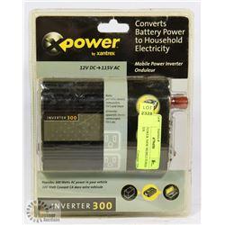 NEW X POWER 300W MOBILE POWER INVERTER