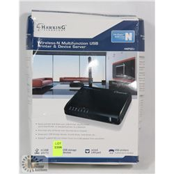 HAWKING TECHNOLOGY WIRELESS - N USB PRINTER &