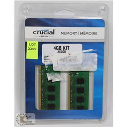 4 GB CRUCIAL MEMORY RAM KIT