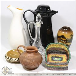 BOX OF COFFEE CARAFE, PITCHER AND MORE