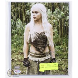 SIGNED EMILIA CLARK PHOTO WITH COA.