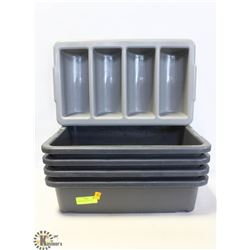 4 BUS PANS & CUTLERY TRAY