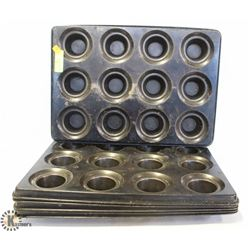 LOT OF 6 MUFFIN TINS