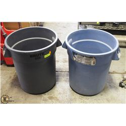 2 RUBBERMAID BRUTE 20 GAL REFUSE CONTAINERS