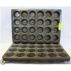 """LOT OF 4 MUFFIN PANS 21"""" X 14"""" EACH 24 MUFFINS"""