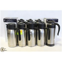 LOT OF 10 SMALL COFFEE WARMERS/CARAFES