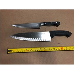 USED SHARPENED KNIVES HIGH QUALITY LRG - LOT OF 2
