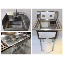 FEATURED LOTS: NEW COMMERCIAL SINKS