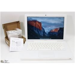 WHITE APPLE MACBOOK W/ EL CAPITAN/MS OFFICE/4GB