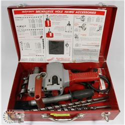 MILWAUKEE HEAVY DUTY HOLE HAWG WITH ACCESSORIES