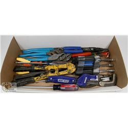 ESTATE FLAT OF VARIOUS TOOLS, INCL CHANNEL LOCKS