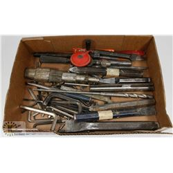 FLAT OF CHISELS, ALLAN KEYS, DRILL BITS AND MORE