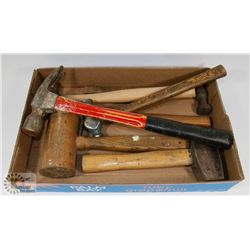 FLAT OF HAMMERS, MALLETS AND MORE