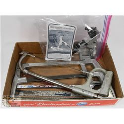 FLAT OF HACK SAWS, BLADES  AND