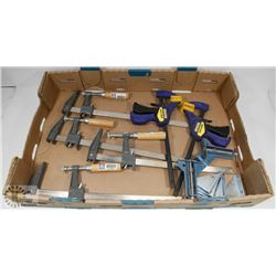FLAT OF BAR CLAMPS, QUICK GRIP CLAMPS AND MORE