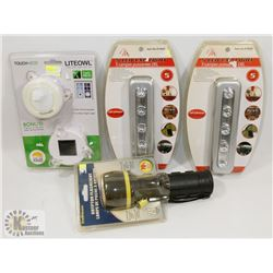 FLAT OF NEW! PRODUCT INCLUDING FLASHLIGHT,