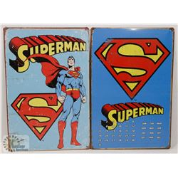"""LOT OF TWO NEW! 12"""" X 8"""" METAL SIGNS"""