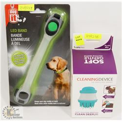 NEW! LED BAND DOG COLLAR SOLD WITH NEW! GENTLE