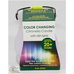 NEW! CITRONELLA CANDLE W/ LED LIGHTS