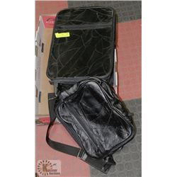 LAMBSKIN CARRY ON LUGGAGE WITH MATCHING CAMERA BAG