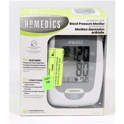 HOMEDICS BLOOD PRESSURE MONITOR AUTOMATIC ARM