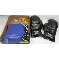 FLAT WITH 16OZ BOXING GLOVES, ULTRA SLIM WAIST