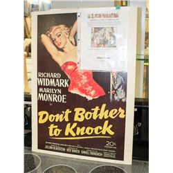 "ORIGINAL MARILYN MUNROE ""DONT BOTHER TO KNOCK"""