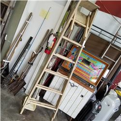 TAN 7FT WOODEN LADDER