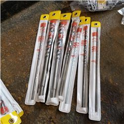 "ASSORTED 12"" CONCRETE DRILL BITS"