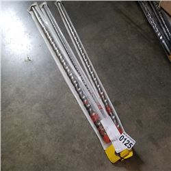 "3 DIAGER 24"" BITS 3/4, 3/8, AND 5/8 INCH BITS"
