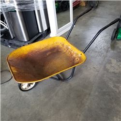 YELLOW METAL WHEEL BARROW