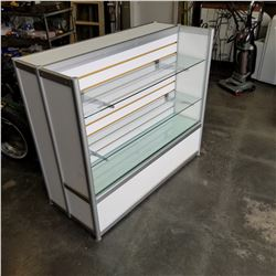 RETAIL DISPLAY SHELF W/BACKSIDE STORAGE