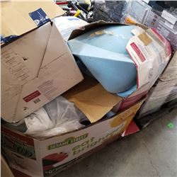 PALLET OF RETURNED GOODS, MATTRESS TOPPERS, ETC