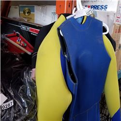 3 STARTED WOMENS WETSUITS AND SMALL BILLIARDS TABLE