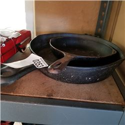 2 CAST IRON FRYING PANS