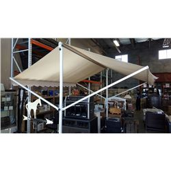 13 FOOT RETRACTABLE CAPPUCCINO AWNING, WITH WHITE FRAME