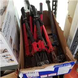 LOT OF BOLT CUTTERS