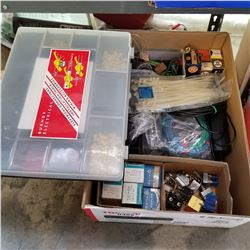 BOX OF VARIOUS ELECTRICAL COMPONENTS