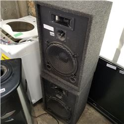 PAIR OF FLOOR SPEAKERS