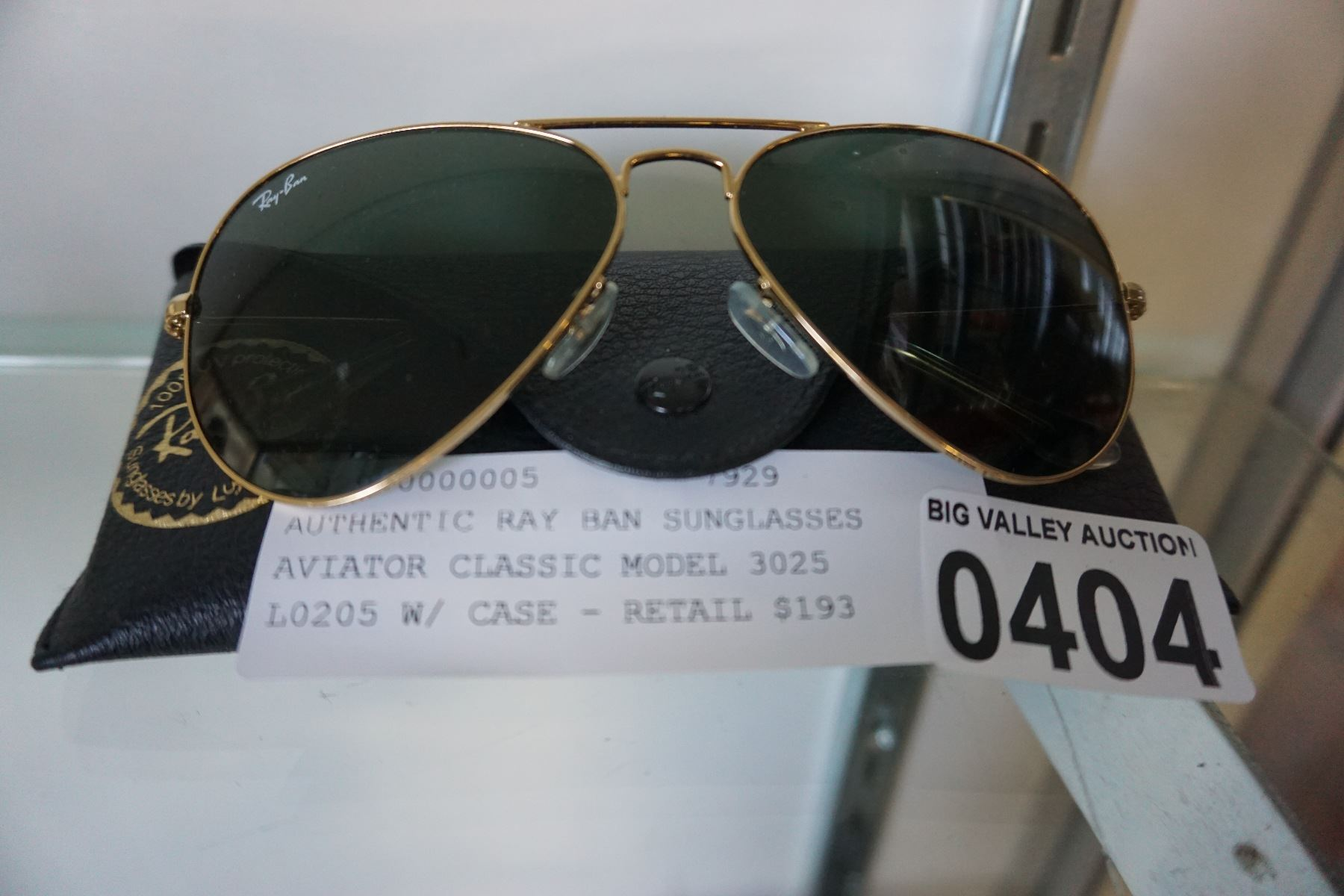e64637b70 ... Image 2 : AUTHENTIC RAY BAN SUNGLASSES AVIATOR CLASSIC MODEL 3025 L0205  W/ CASE ...