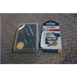 WEISER SMART KEY REKEY KIT WITH BUTANE PEN TORCH KIT