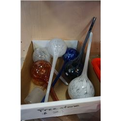 BOX OF WATERING GLOBES
