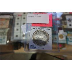 1966 CANADIAN SILVER DOLLAR .800 SILVER