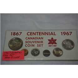 1967 CENTENNIAL CANADIAN COIN SET .800 SILVER