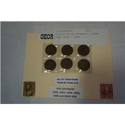 COLLECTION OF GEORGE V 1 CENT COINS 1932 - 1936