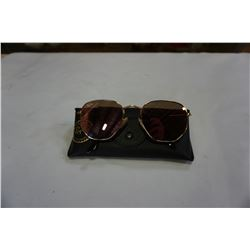 AUTHENTIC RAY BAN SUNGLASSES HEXAGONAL FLAT LENSE MODEL 3548-N 001/Z2 W/ CASE AND CLOTH - RETAIL $22