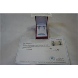 STERLING SILVER GENUINE 102 3.06CT TANZANITE HOOP EARRINGS W/ APPRAISAL $1800