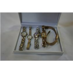 5 WOMENS WATCHES INCLUDING GUESS AND PULSAR