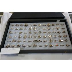 LARGE TRAY OF RINGS STAMPED STERLING
